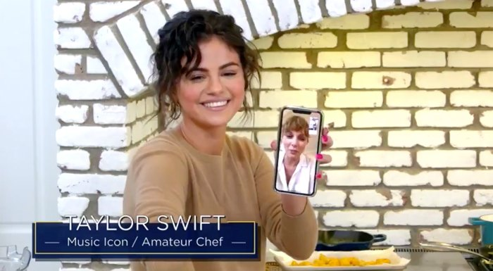 Taylor Swift Makes Surprise Appearance On Bff Selena Gomez S Cooking Show