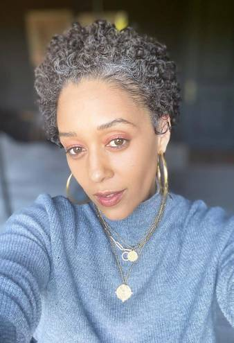 Tia Mowry, 42, Looks Stunning With Gray Hair: 'This Is Me'