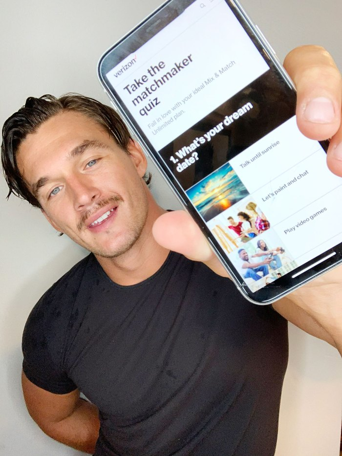 Tyler Cameron teams up with Verizon for a dating quiz