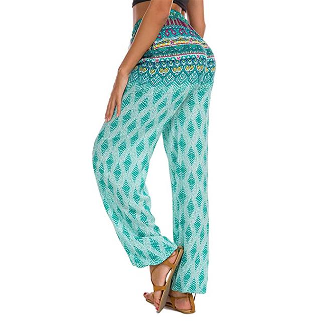 Urban CoCo Pantalones de chándal estilo harem de yoga Boho para mujer