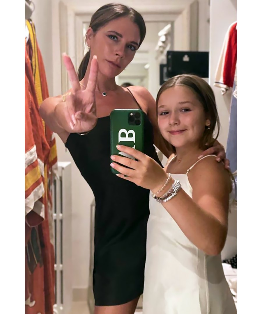Victoria and Harper Beckham Have the Chicest Twinning Moment in Slip Dresses