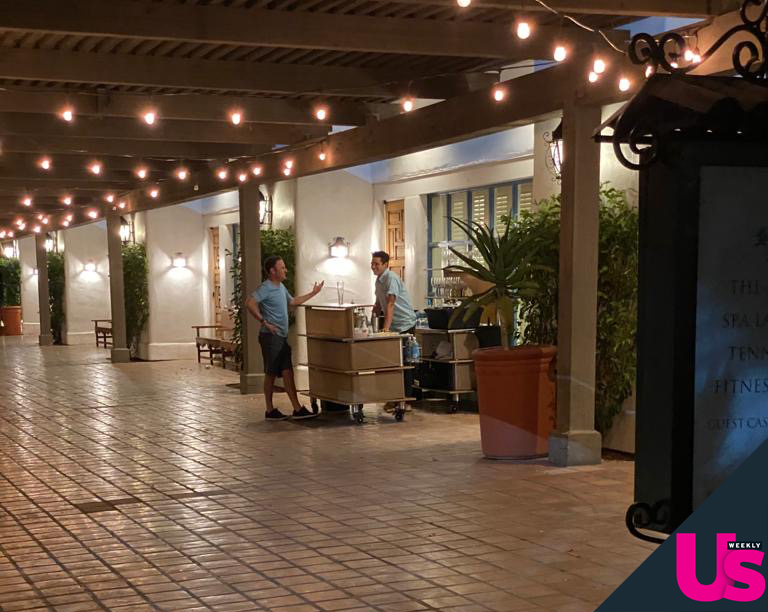 Wells Adams Spotted Bartending at Bachelorette Resort