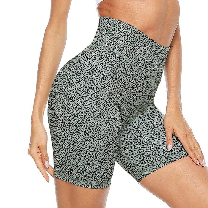 Pantalones cortos de yoga de entrenamiento con estampado de cintura alta Persit