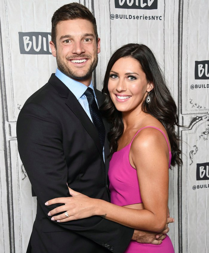 Garrett Yrigoyen and Becca Kufrin at Build Speaker Series Becca Kufrin Says She is in a Magical Spot After Moving to LA and Splitting From Garrett Yrigoyen