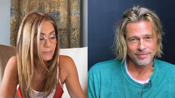 Brad Pitt and Jennifer Aniston Had a Really Good Time Doing Fast Times Table Read