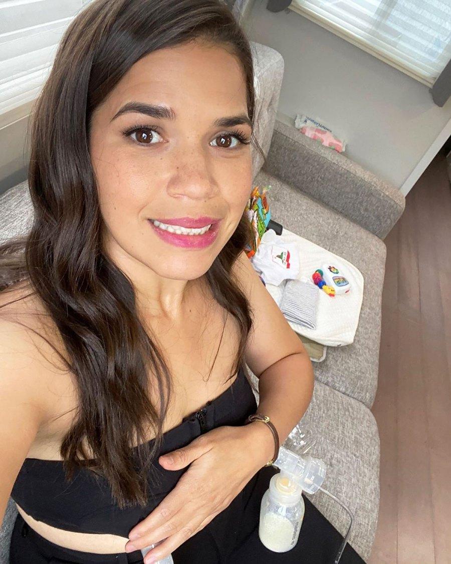 America Ferrera and More Celeb Moms Pumping Breast Milk