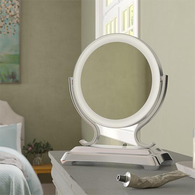 Charlton Home Vanleer Modern & Contemporary Beveled Lighted Magnifying Makeup/Shaving Mirror