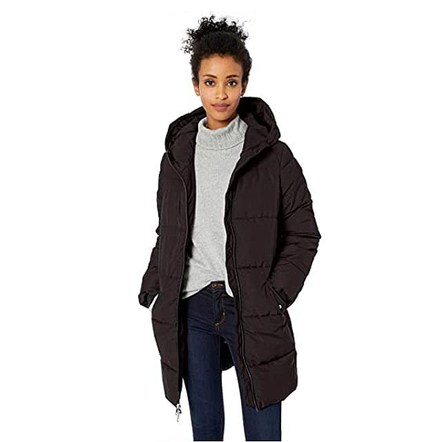 Daily Ritual Women's Long Water-Resistant Primaloft Puffer Jacket