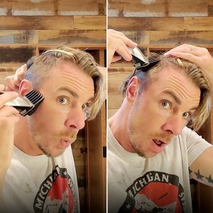 Twinning Dax Shepard Shaves His Hair Match His Daughter