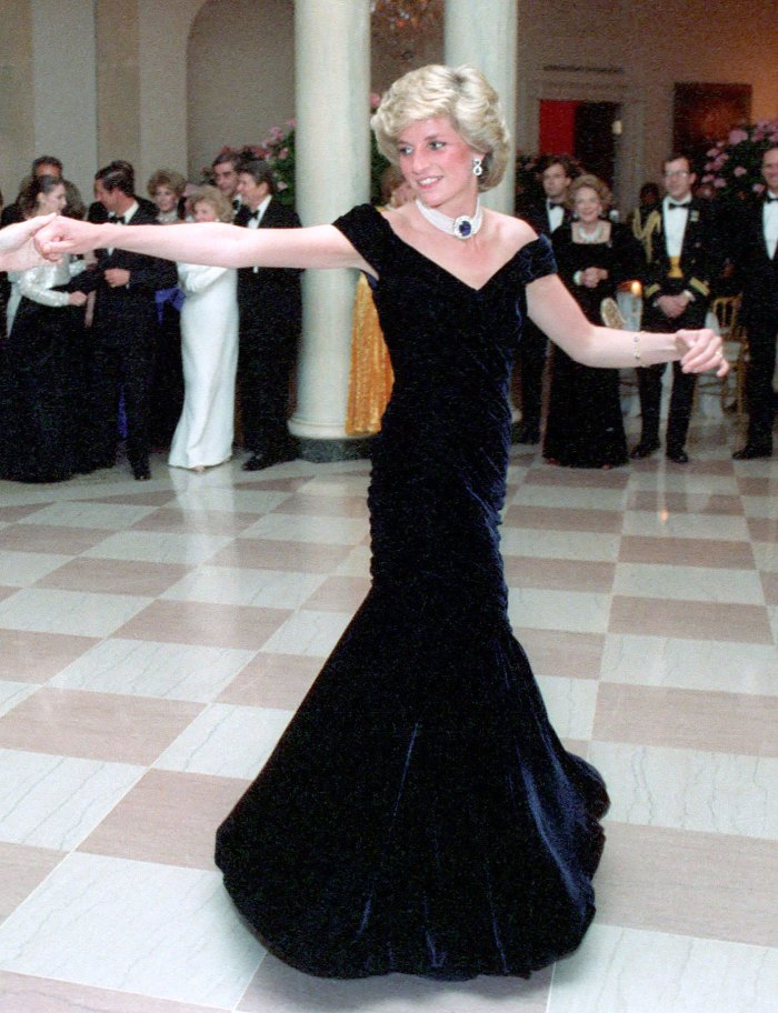 Princess Diana midnight blue dress Duchess Kate Iconic Mesh Dress Was Supposed Be Skirt