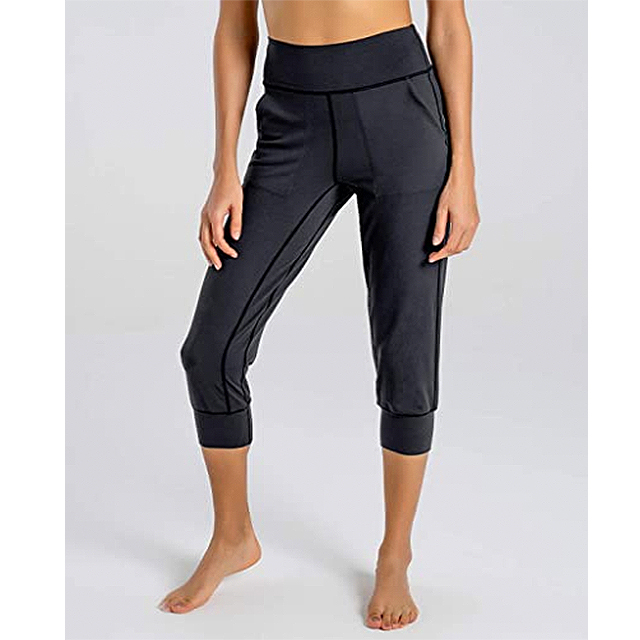 FIRST WAY Women's Buttery Soft Yoga Jogger Pants (Black)