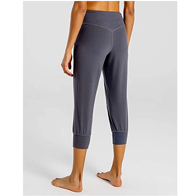 FIRST WAY Women's Buttery Soft Yoga Jogger Pants (Grey)