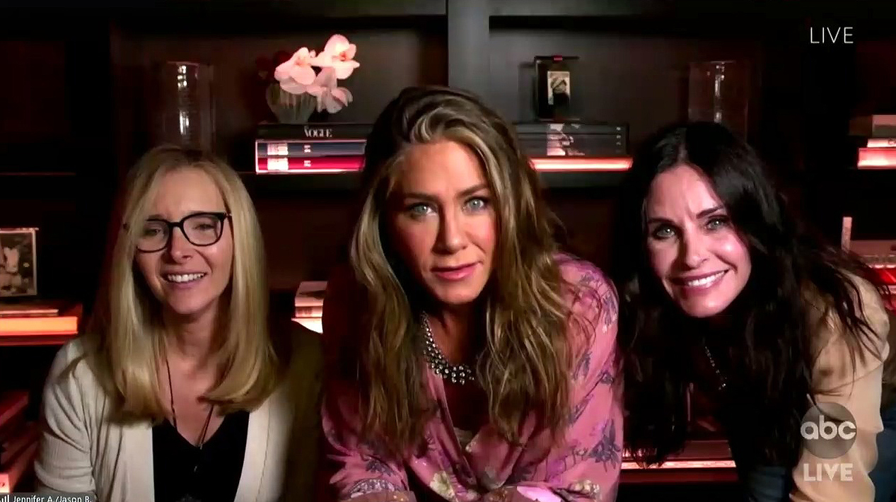 There for You! Jen Aniston, Courteney Cox, Lisa Kudrow Reunite at the Emmys