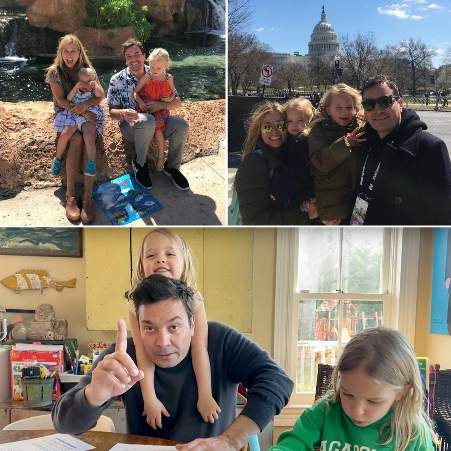 Jimmy Fallon Best Moments With Nancy Juvonen and 2 Kids