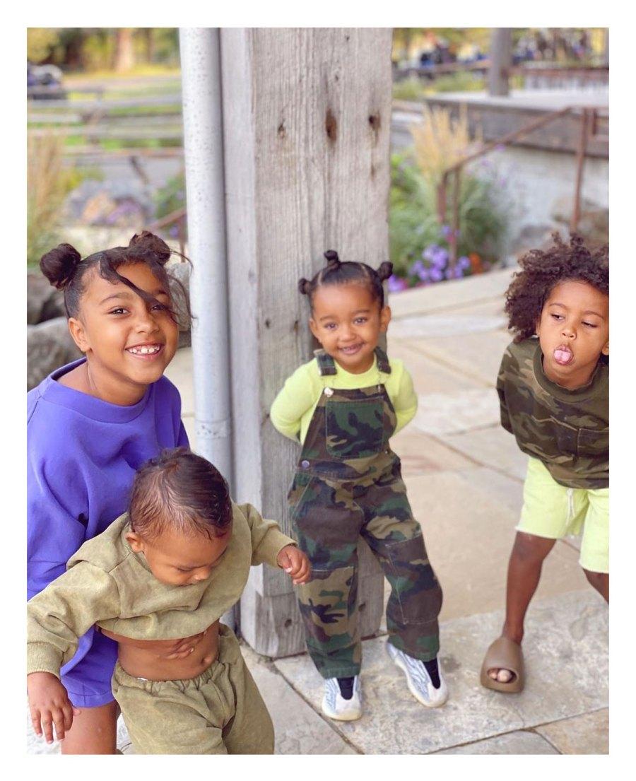 Kim Kardashian Shares Photo of 4 Kids With Husband Kanye West family