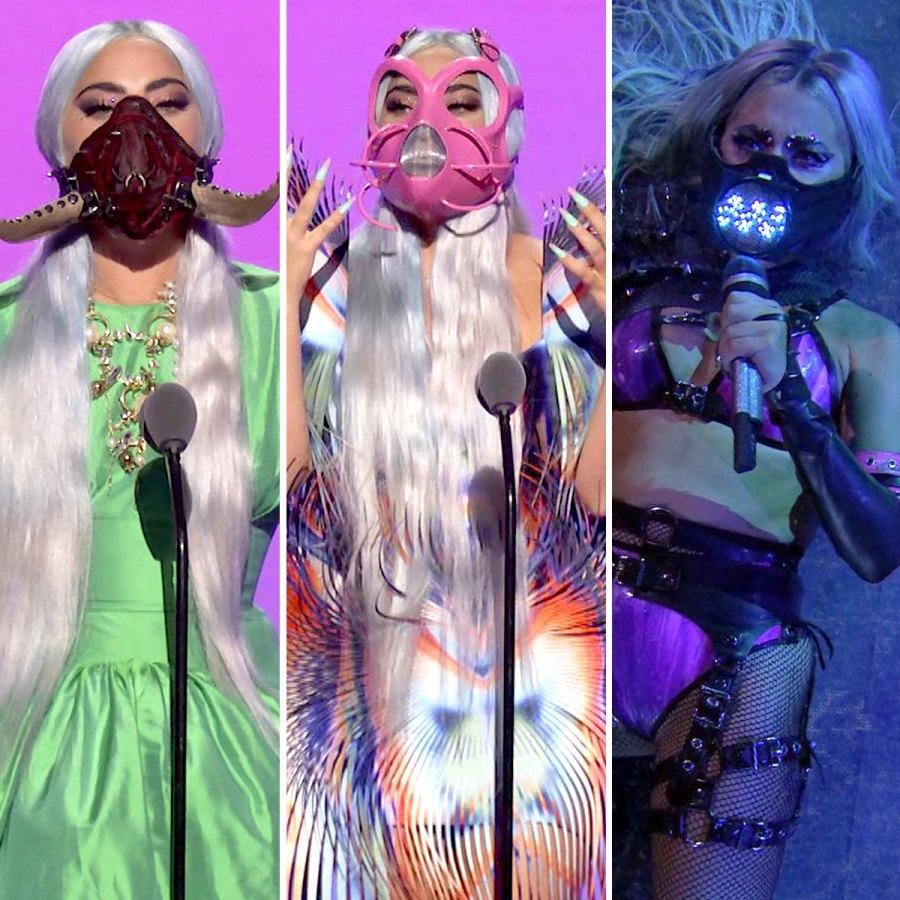 Lady Gaga face masks VMAs