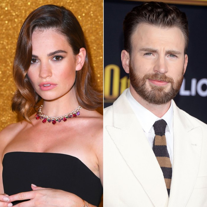 Lily James Won T Confirm She S Dating Chris Evans Amid Rumors