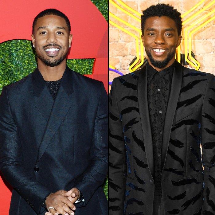 Michael B Jordan And Black Panther Costars Attend Chadwick Boseman Memorial