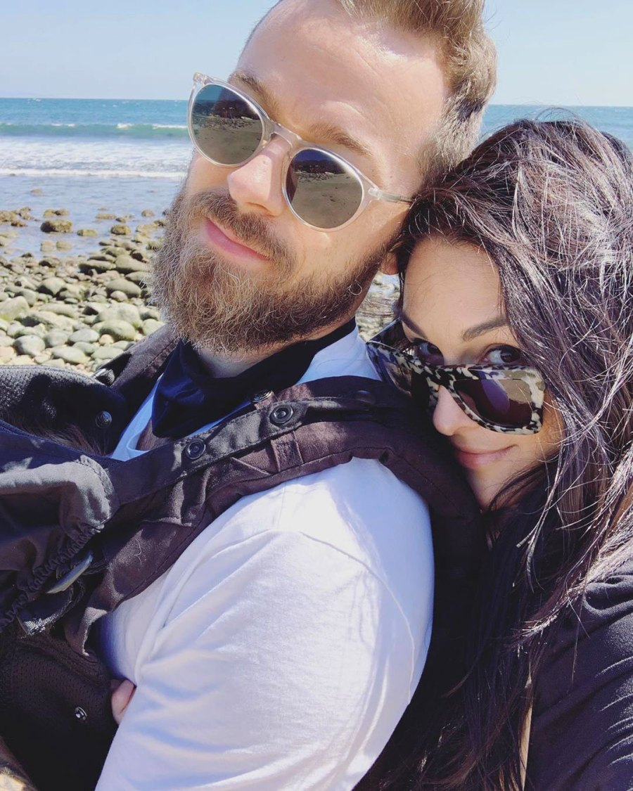 Nikki Bella and Artem Chigvintsev Take Matteo to Beach