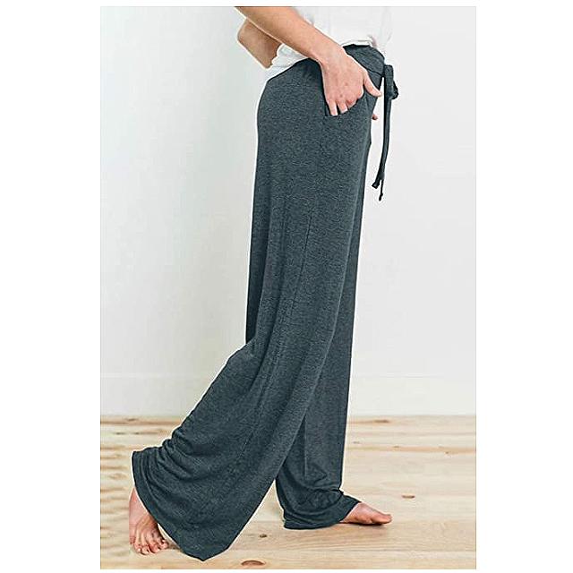 PRETTYGARDEN Pantalones de pijama casuales para mujer (verde oscuro)