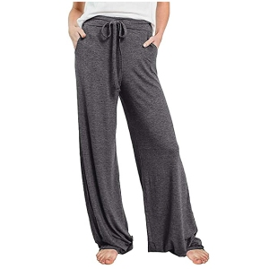 PRETTYGARDEN Women's Casual Pajama Pants (Dark Grey)