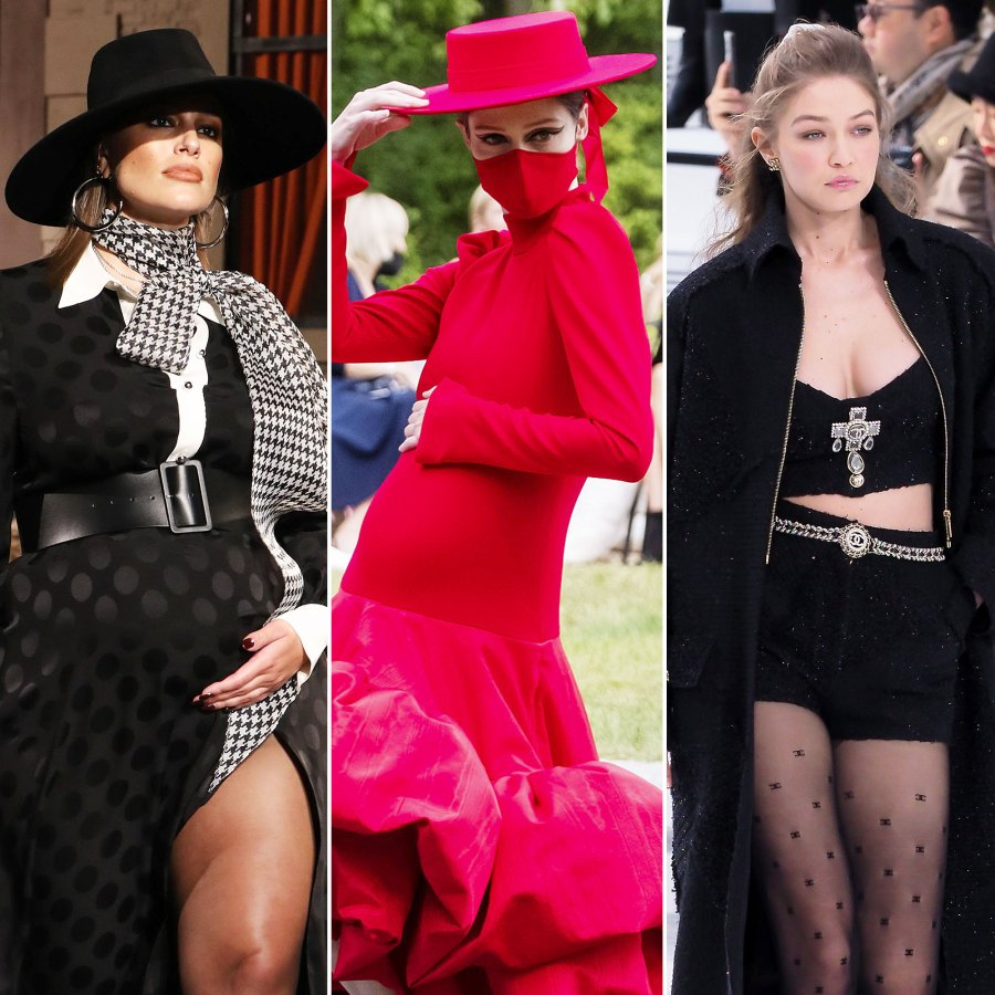 Ashley Graham Coco Rocha Gigi Hadid Pregnant Models Walking the Runway