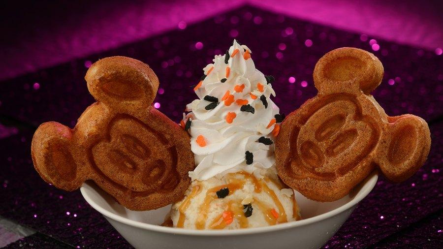 Pumpkin Waffle Sundae Disneyworld