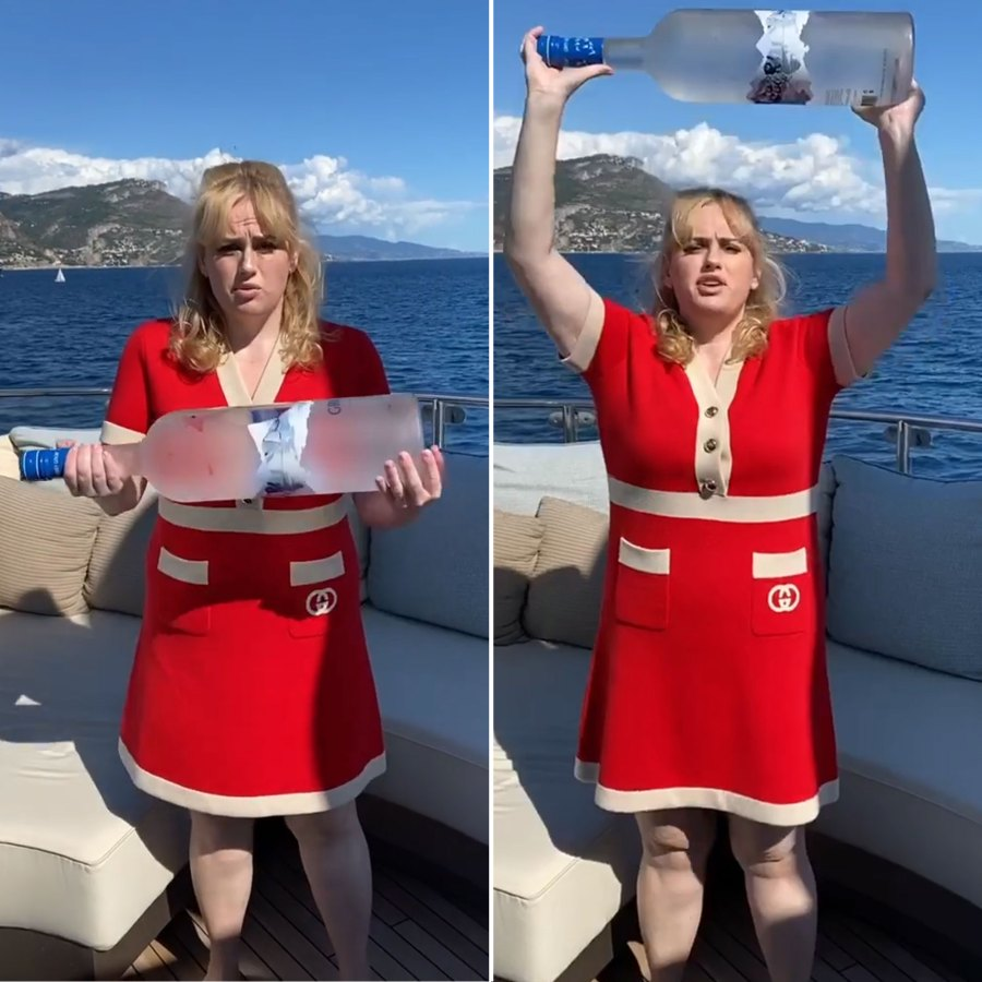 Rebel Wilson New Workout Routine Giant Bottle of Vodka