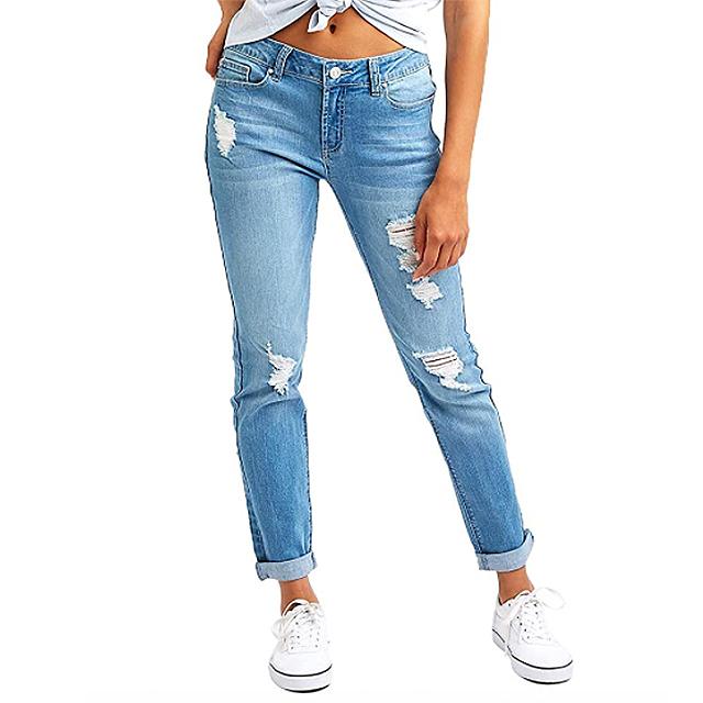 Resfeber Women's Ripped Boyfriend Jeans