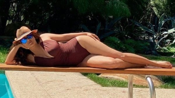 Salma Hayek Puts Her Curves on Display in a Seriously Sexy Swimsuit