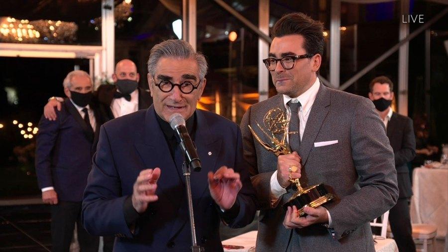 Stars Celebrate Schitts Creeks Emmys 2020 Wins 2020 Emmys