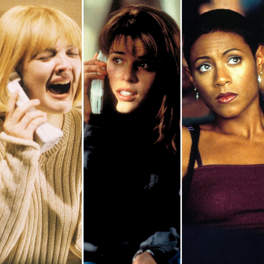 Stars in Scream Drew Barrymore Neve Campbell Jada Pinkett Smith