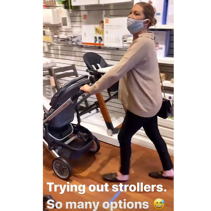 Stroller Shopping Pregnant Stassi Schroeder Baby Bump Album Baby Buys