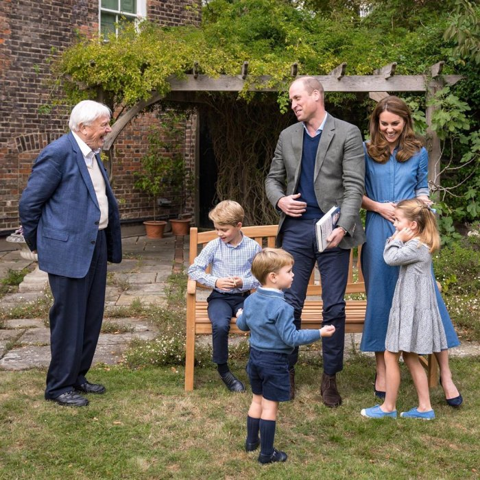 Prince William and Duchess Kate Share New Photos of George, Charlotte and Louis Meeting David Attenborough