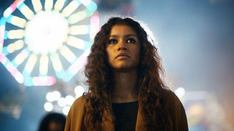 Zendaya as Rue Bennett in Euphoria Zendaya Costars Go Wild Over Her Euphoria Win