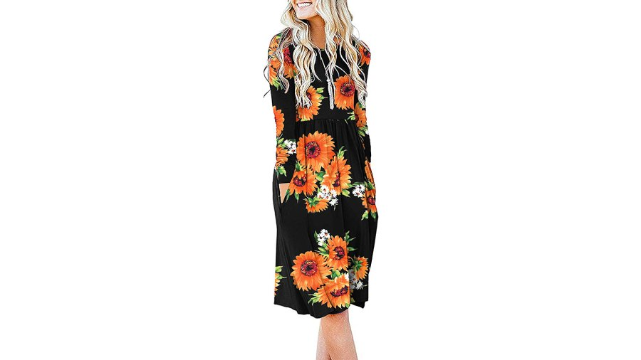 DB MOON Long Sleeve Empire Waist Dress