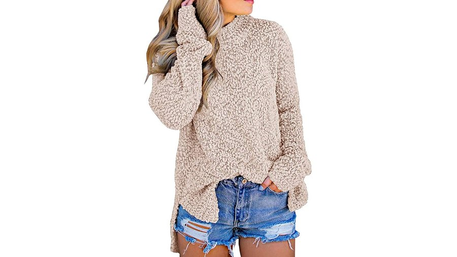 Imily Bela Fuzzy Knitted Sherpa Sweater