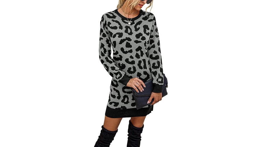 KIRUNDO 2020 Long Sleeve Mini Sweater Dress