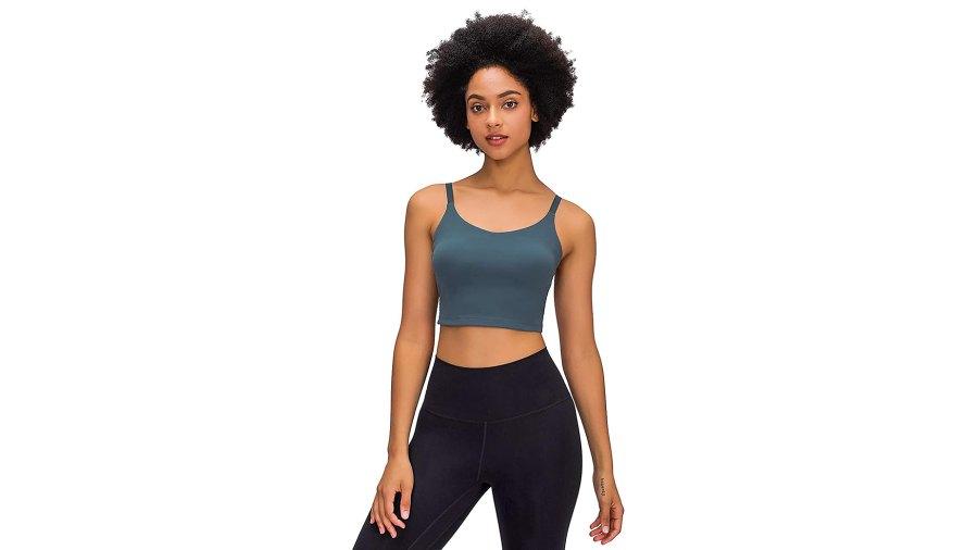 Lavento Longline Cami Crop Yoga Tank Top