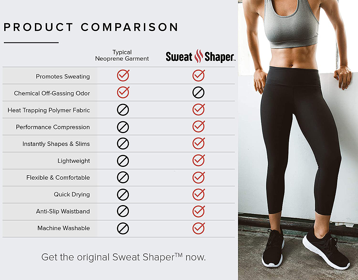 Sweat Shaper Compression Slimming Leggings