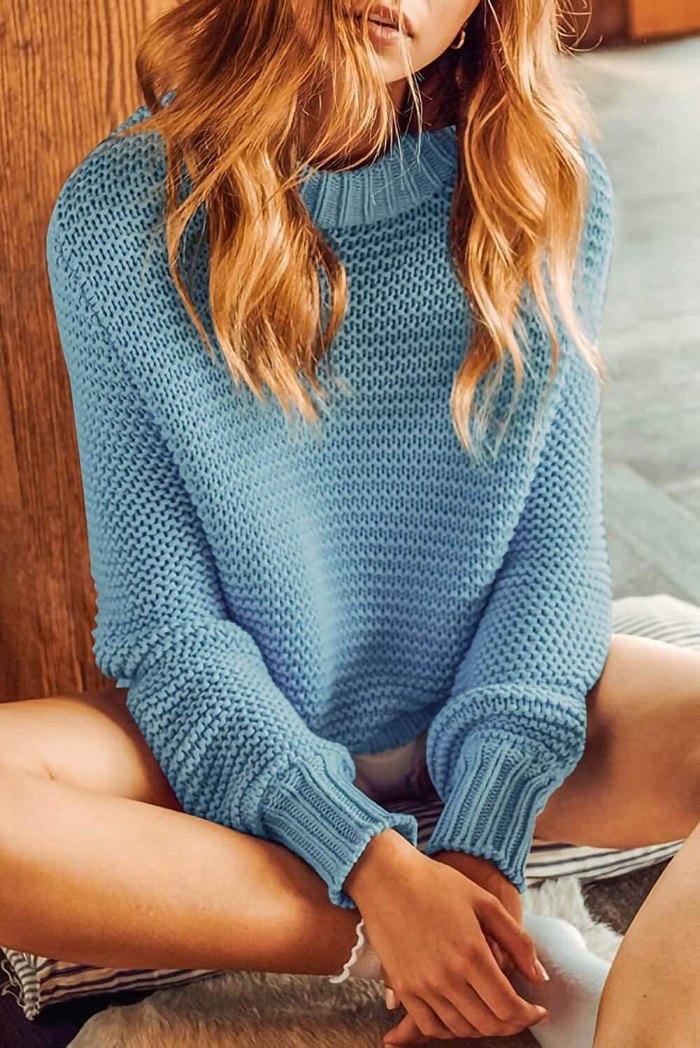 TARSE Chunky Knit Balloon Sleeve Sweater