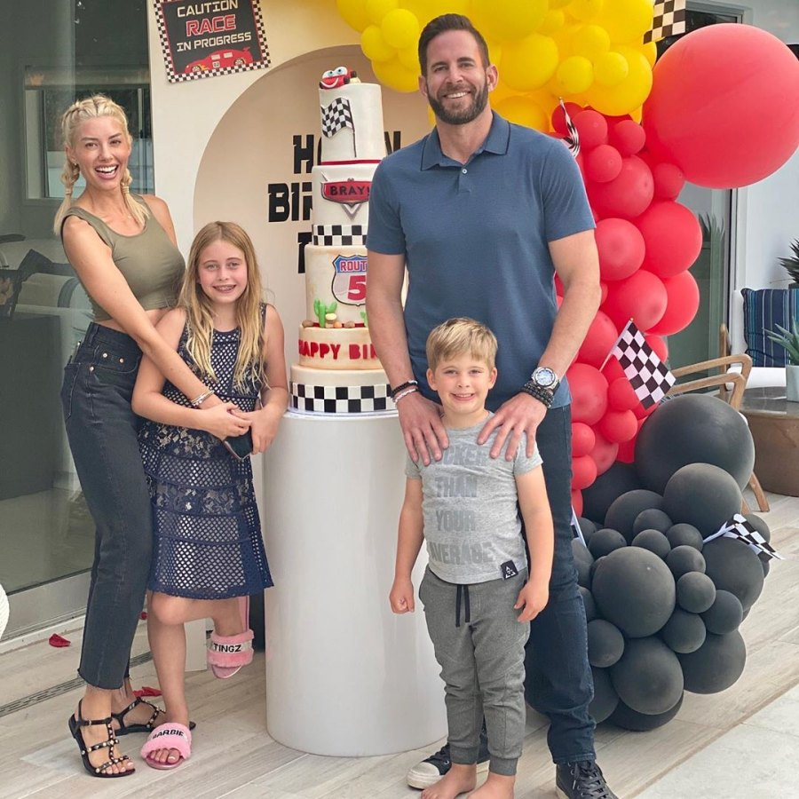 4 August 2020 Heather Rae Young's Sweetest Moments With Tarek El Moussa's Kids