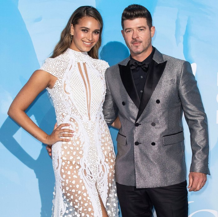 April Love Geary Gives Birth to 3rd Child With Robin Thicke His 4th
