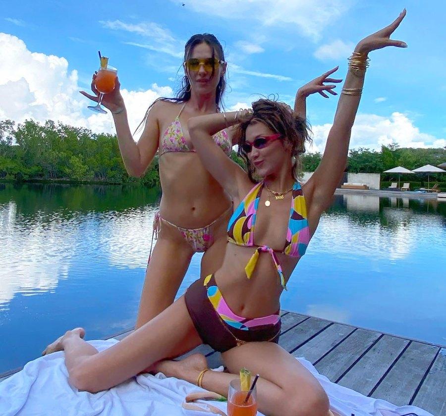 We're Loving Bella Hadid's Colorful Bikini