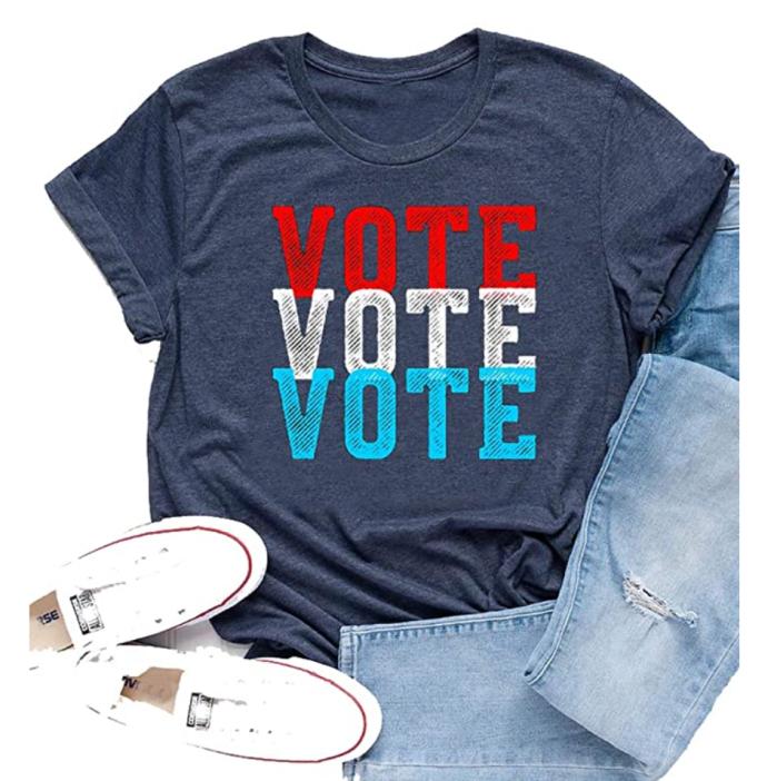 Belleet 2020 Election Shirt Register to Vote Short Sleeve Tops
