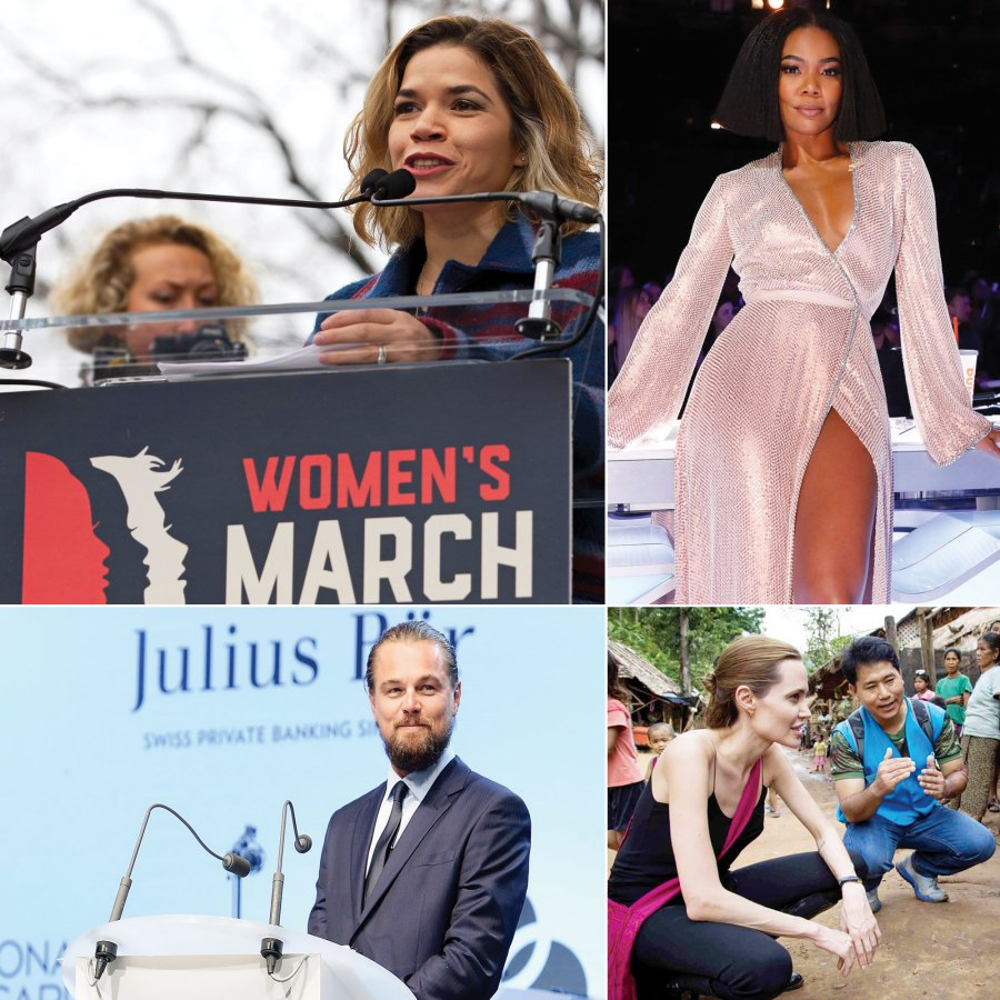 Celebrity Activists: Angelina Jolie, America Ferrera, Leonardo DiCaprio and More