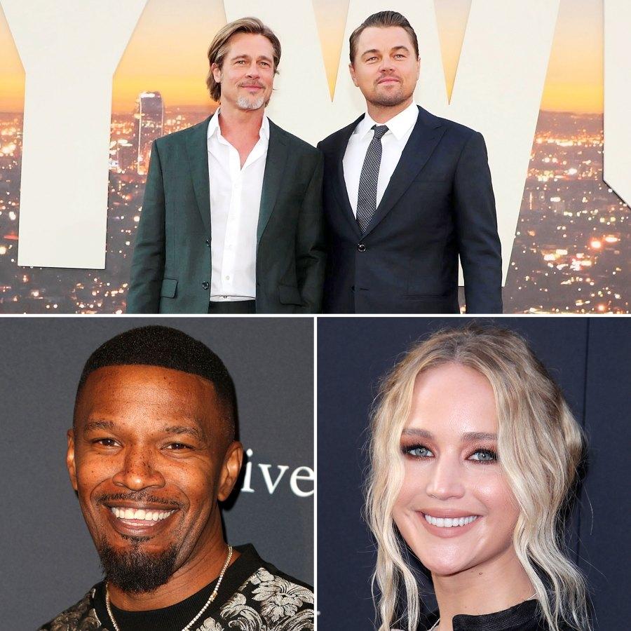 Celebrity Heroes Leonardo DiCaprio Brad Pitt More Stars Who Saved Lives Jamie Foxx Jennifer Lawrence