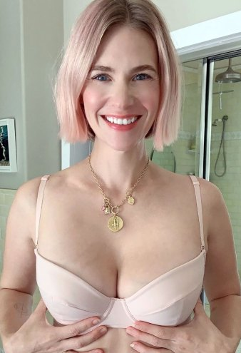 January Jones Is the Latest Star to Strip Down for a Good Cause