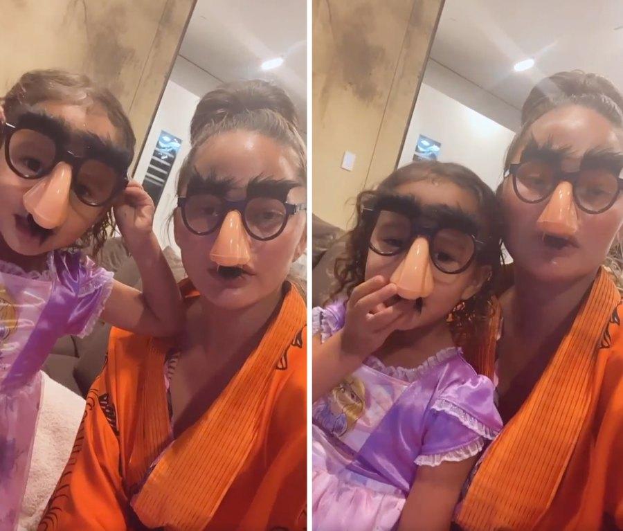Chrissy Teigen and Luna Are Unrecognizable in Gag Glasses