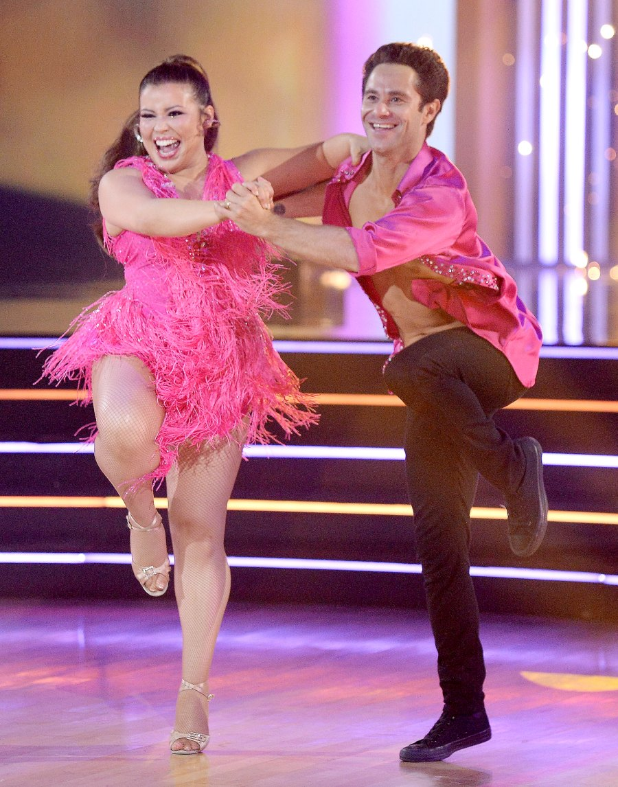 Justina Machado and Sasha Farber DWTS Recap October 12
